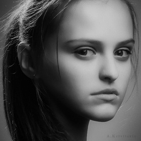 Studio portrait. Photo model.